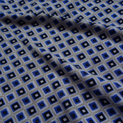 Roman Tile Print 100% Cotton Jersey Fabric Material Craft Textile - BLUE