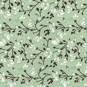 Floral Cotton Poplin Fabric Material For Crafts Flowers (0427)- Green
