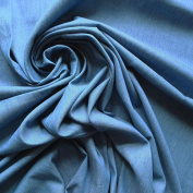 Classic Mid Blue 100% Cotton Denim Fabric 120ml weight washed finish similar to Chambray - Sold By The Metre