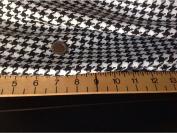 "NEW Designer Black white Dogtooth 60"" 151cm AS SEEN ON DESIGNER CATWALK cheque Jacket"
