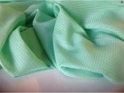 "Beautiful Italian Green Silk & Cotton Dobbi Fabric 55""141cm European Cloth Craft"