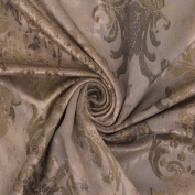 Pescara Two Tone Golden Brown Velour Embossed Floral Damask Heavyweight Craft Stretch Velvet Material For Cushion Sofa Curtain Furnishing Upholstery Sold By The Metre