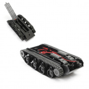 Tank Robot Chassis, Oldeagle Smart Robot Tank Car Chassis Kit Rubber Track Crawler for Arduino 130 Motor