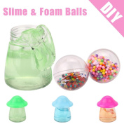 Fluffy Slime DIY Crafts, Lotus.flower Colourful Foam Balls & Slime Clay Toy Stress Reliever Scented Sludge Plaything - Super Soft / Non-sticky Gadget Release Your Pressure