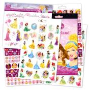Disney Princess Stickers & Tattoos Bundle - 295 Reward Stickers with 1 sheet of Disney Princess Tattoos