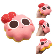 Keepwin Squishy Toys Stress Relief Strawberry Kawaii Slow Rising Jumbo Squishy Toys Soft Toys Gifts for Kids Adults
