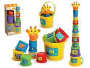Gerry The Giraffe Baby Toddler Stacking Nesting Sorting Cup Blocks Toy Activity Fun Time
