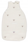 Merino Kids Linen/Merino Bee Embroidery Baby Sleep Bag For Baby 0-2 Years, Cream