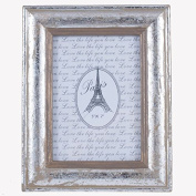 Silver Wood Oblong Photo Frame Large