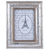 Silver Wood Oblong Photo Frame Small