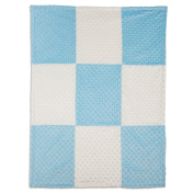 Boritar Soft Baby Blanket for Boys and Girls with Minky Raised Dotted, Blue 80cm x 100cm