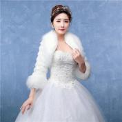 Women's Wrap Shrugs Faux Fur Wedding / Party/Evening Pattern / Wave-like