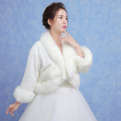 Women's Wrap Bridal Shrugs Faux Fur Long Sleeve Wedding / Party/Evening / Casual Winter Solid Thick White