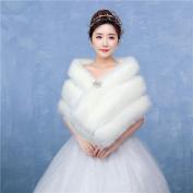 Women's Elegant Warm Bridal Wrap Capelets Faux Fur Wedding / Party/Evening Winter Solid Thick White