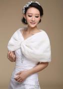 Fur Wraps / Wedding Wraps Shrugs Faux Fur Ivory Party/Evening / Casual