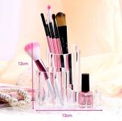 Domire Transparent storage box cosmetic pencil paint storage barrels Desktop Storage Box Makeup