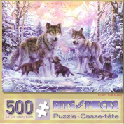 Winter Wolf Family By Jan Patrick 500 Piece Puzzle