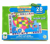 USA Big Floor Puzzle 50cm x 36cm Fun To Learn States