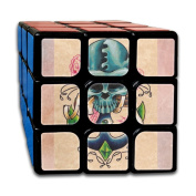 3x3x3 Cube GameAnchor Skull Rose Game Puzzle Toys Rubik Cube For Adults Kids Anti Stress Anti-Anxiety