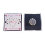 Lucky Sixpence For 30th Pearl Wedding Anniversary Keepsake Gift