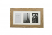 Dark Brown Wooden Picture Photo Frame 3 Aperture holding 10cm x 15cm Photos