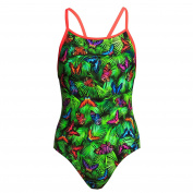 Funkita Girls Pretty Fly Diamond Back One Piece Swimsuit Size 164DE/12AUS