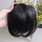 20cm Jet Black (#01) Real Human Hair Fashion Front Hair Neat Bang Fringes One Hair Pieces