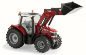 Massey Ferguson 6616 Tractor with Loader, Red - TOMY 16297 - 1/32 Scale Diecast Model Toy Car