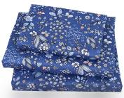 J-pinno Little Floral and Butterfly Twin Sheet Set for Kids Girl Children,100% Cotton, Flat Sheet + Fitted Sheet + Pillowcase Bedding Set