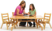 Angeles Furniture Natural Wood Collection 30 x 120cm x 30cm Rectangle Toddler Table and Chair Set