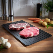 Transer Fast Defrosting Tray, The Safest Way to Defrost Meat or Frozen Food Quickly Without Electricity, Microwave, Hot Water or Any Other