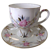 Lomonosov Porcelain Set Galant Bone China Coffee Cup 5.4 oz/160 ml and Saucer