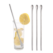 IMEEA Cocktail Mixing Stirring Spoons Iced Tea Coffee Spoons with 25cm Long Handle Brushed SUS304 Stainless Steel
