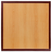 Flash Furniture 60cm Square 2-Tone High-Gloss Cherry / Mahogany Resin Table Top with 5.1cm Thick Drop-Lip