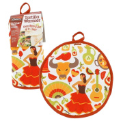 """Tortilla Warmer 12"""" – Insulated, Microwaveable Fabric Pouch by Cameron's Products – Keeps Tortillas Heated for up to One Hour"""