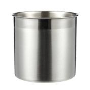 Utensil Holder - Cutlery Caddy Stainless Steel Cooking Utensil Holder for Kitchen Utensil Organising and Storage, Silver, 13cm x 13cm