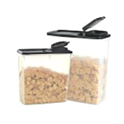 Tupperware Cereal Keepers Modular Mate Duo Set Storer Airtight Canister Container Pour Spout Lid