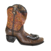 Weathered Cowboy Boot Wine Bottle Holder