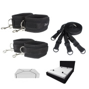 Bed Restraints - for Couples - Adjustable One Size Fits All - Under Mattress - Made for Comfort - Portable and Compact Wrist Straps - Can be used on ANY Bed – Bondage wear