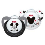 NUK Disney baby black/white silicone soother 0-6 months BPA free