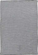 Ibena baby blanket cotton anthracite size 70x100 cm