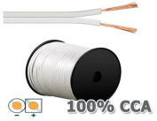 White Loudspeaker Cable 2 x 1.5 mm² 20 m Ring