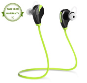 Bluetooth Wireless Sports Headphones Earphones In-ear with Mic, Wireless Bluetooth Running Earbuds Noise Cancelling Headsets, Sweatproof Wireless Sports In-ear Headphones for Running Workout by Sporch Green