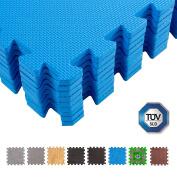 BodenMax® protective mats 30 x 30 cm, puzzle mat Sport mat Underlay mat Gymnastics mat Fitness mats Ground protection Mesh thickness