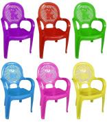 Assorted Colour Stackable Kids Children Plastic Chair Home Picnic Party Nursery Tea School 30kg Furniture Garden Clubs Seat