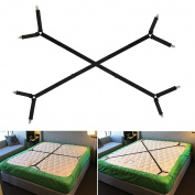 Foder Bed Sheet Holder Straps Adjustable Triangle Bed Sheet Fastener Fitted Sheet Straps Suspenders Grippers Corner Holder for King Queen Twin Size