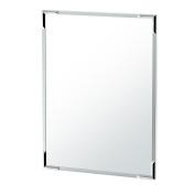 Gatco 1528 Flush Mount Framed Rectangle Mirror, 80cm H, Chrome