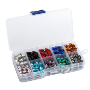Quality Sew on Crystal Rhinestone Navette Shape 7×15mm 200pcs Multi-coloured with Box Set Value Pack