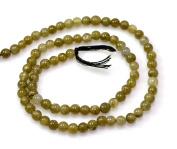 One Natural Labradorite Cabochon Round Shape Gemstone Beads String Strands