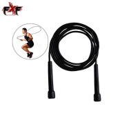 Top Gym Boxing Speed Jumping Exercise Fitness Workout Black Skipping Rope 2.7m UK